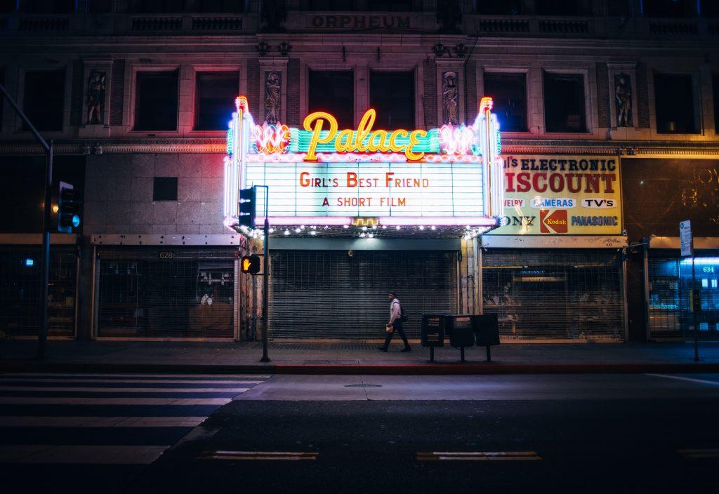 Kuva elokuvateatterista